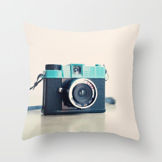 Film Camera Diana Mini  Throw Pillow