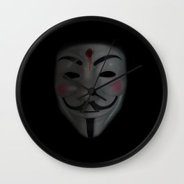 Guy Fawkes - I am free Wall Clock