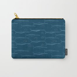 Arctic Iceberg Narwhal pattern Carry-All Pouch