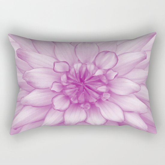 Dahlia Radiant Orchid  - JUSTART © Rectangular Pillow