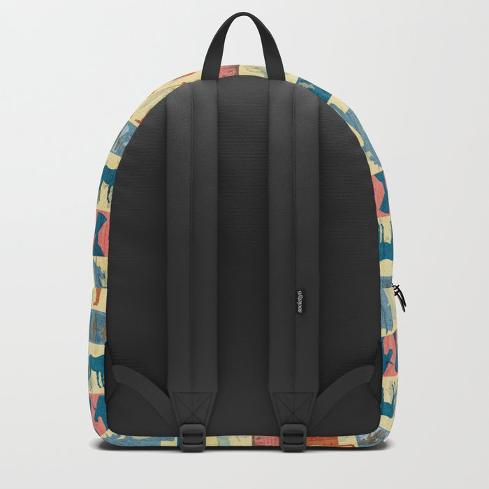 Egyptian Unicorn Pattern Backpack