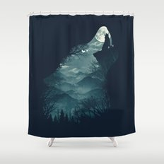 Hungry Wolf Shower Curtain