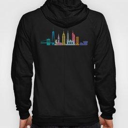 New York Skyline Black Hoody