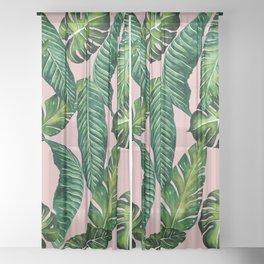 Jungle Leaves, Banana, Monstera II Pink #society6 Sheer Curtain