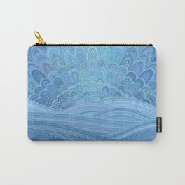 Blue Mandala Sunset at the Ocean Carry-All Pouch