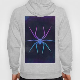 SPIDER IN SPACE // Animal Graphic Art // Watercolor Canvas Painting // Modern Minimal Cute Hoody