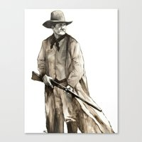 wesley bird Canvas Prints featuring John Wesley by Andrew Cherry