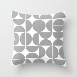 Mid Century Modern Geometric 04 Grey Throw Pillow