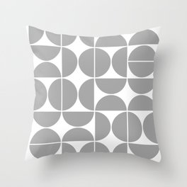 Mid Century Modern Geometric 04 Grey Throw Pillow
