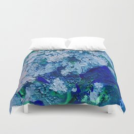 Imagined Ocean View From Above Duvet Cover