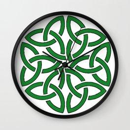 Shamrock Celtic Art Knotwork Design Wall Clock
