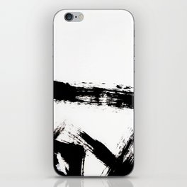 Brushstroke [8] - a simple, abstract, black and white india ink piece iPhone Skin