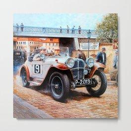 Jalopy racingcar painting Metal Print