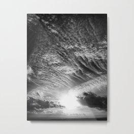 Burst - Black & White Metal Print