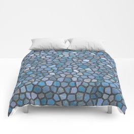 Blue Mosaic Pattern - Dark Comforters