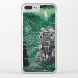 Trepidation Clear iPhone Case