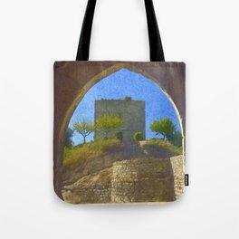 Portuguese castle window Tote Bag