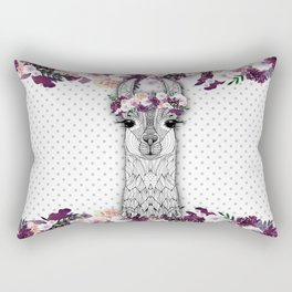 FLOWER GIRL ALPACA Rectangular Pillow
