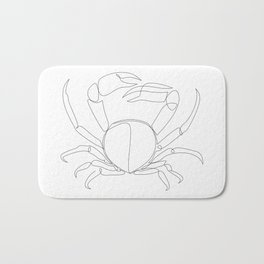 crab - one line art Bath Mat