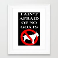 ghost busters Framed Art Prints featuring Goat busters by junaputra