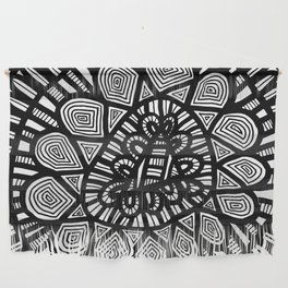 Black and White Doodle 7 Wall Hanging