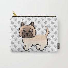 Cute Wheaten Cairn Terrier Dog Cartoon Illustration Carry-All Pouch