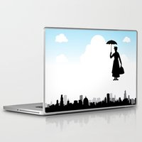 mary poppins Laptop & iPad Skins featuring mary poppins by notbook