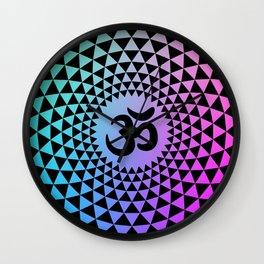 Om lotus mandala Wall Clock