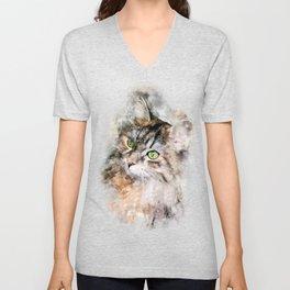 Duchess Watercolor Cat Unisex V-Neck