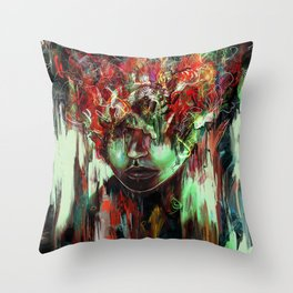 Chaotic Mind Throw Pillow