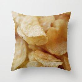 Potato Chips Throw Pillow