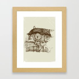 Hobbit house ink Framed Art Print