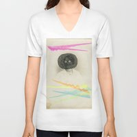 led zeppelin V-neck T-shirts featuring Led Contrast by Naomi Vona