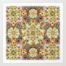 Circus Pastel Mandala Art Print