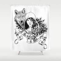 bane Shower Curtains featuring The Wolf's Bane by Spicy Monocle