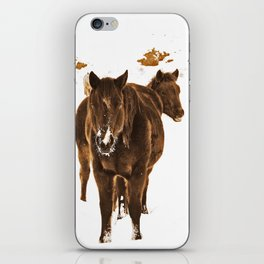 Horses The Winter of 2017 iPhone Skin