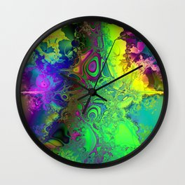 Color Explosion Psychedelic Abstract Art  Wall Clock