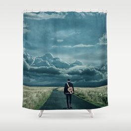 In Search of a Song Shower Curtain