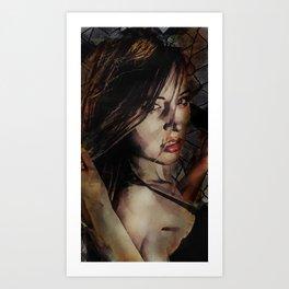 Wanted - Noir Portrait Art Print