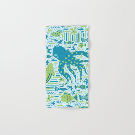 SEA PATTERNS Hand & Bath Towel