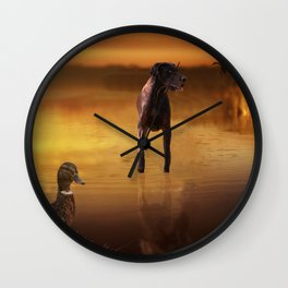 All Creatures In Peace Wall Clock
