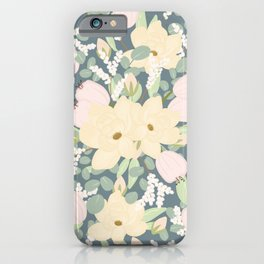 Floral Bouquet with Tulips, Peonies and Eucalyptus  iPhone Case