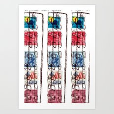 Stitched Buildings Art Print
