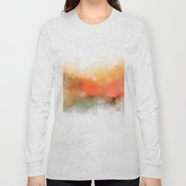 Soft Marigold Pastel Abstract Long Sleeve T-shirt