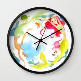 Mermaid Circle Wall Clock
