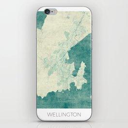 Wellington Map Blue Vintage iPhone Skin