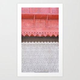 Pink Al Balad Coral House Art Print