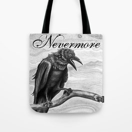 Nevermore Raven Pen & Ink Art Tote Bag