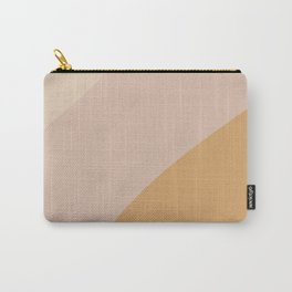 Warm Neutral Color Block Carry-All Pouch