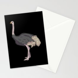 Ostrich Illustration Art Gift Stationery Cards